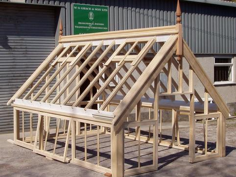 Greenhouse constructed from Accoya