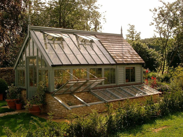greenhouse potting shed